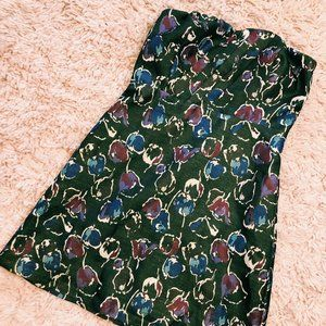 American Eagle Outfitters Dresses - NWT American Eagle Brown Strapless Floral Dress
